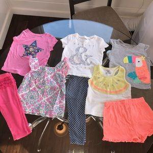 OldNavy Cat&Jack Carters Girls 18m Shirts n Shorts